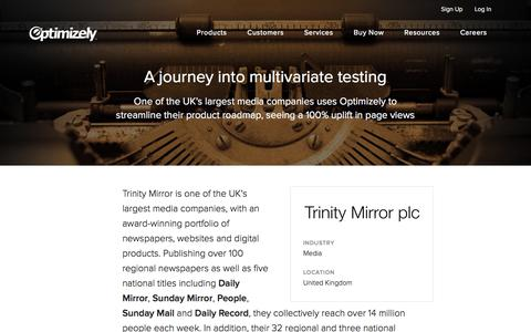 Trinity Mirror's journey into multivariate testing with Optimizely