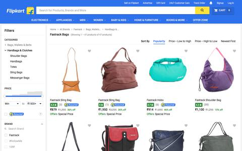 Screenshot of flipkart.com - Fastrack Handbags Clutches - Buy Fastrack Handbags Clutches Online at Best Prices in India | Flipkart.com - captured June 2, 2017