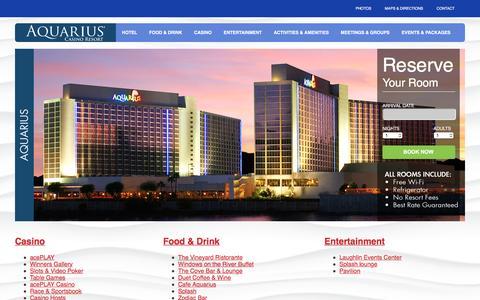 Screenshot of Site Map Page aquariuscasinoresort.com - The Aquarius Casino Resort - Fun in the Sun - Laughlin NV. - captured July 26, 2016