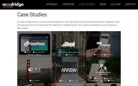 Screenshot of Case Studies Page woodridgesoftware.com - Client Case Studies|Woodridge Software|App Developers - captured Dec. 12, 2016