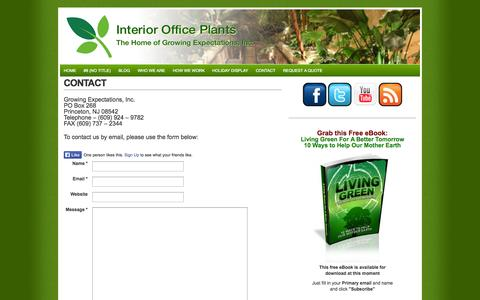 Screenshot of Contact Page interiorofficeplants.com - Contact | Interior Office Plants - captured Oct. 3, 2014