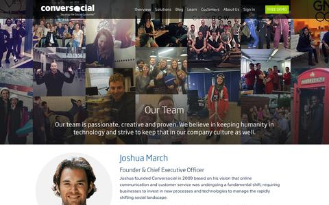 Screenshot of Team Page conversocial.com - Conversocial | Our Team - captured Feb. 15, 2016