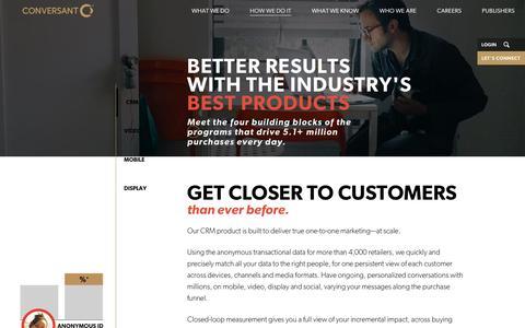 Digital Marketing Products | Conversant
