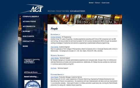 Screenshot of Team Page aci-inc.biz - Welcome to Automated Currency Instruments - captured Oct. 4, 2014