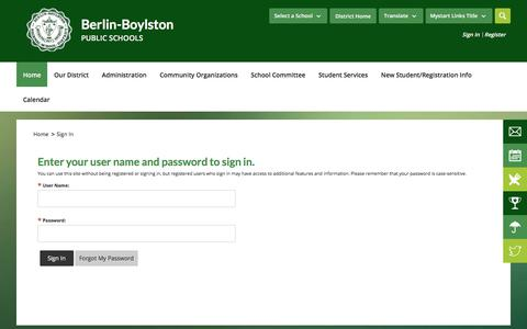 Screenshot of Login Page bbrsd.org - Sign In - captured Oct. 10, 2017