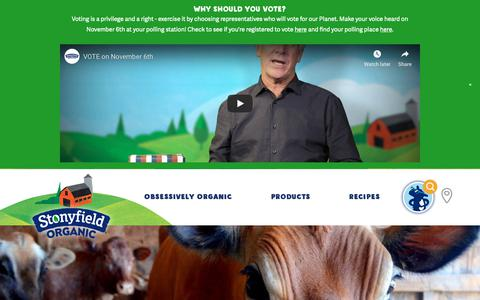 Screenshot of Contact Page stonyfield.com - Contact Us | Stonyfield - captured Nov. 1, 2018