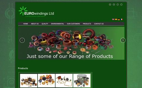 Screenshot of Products Page eurowindings.eu - Products | Coil Windings for the Windings Industry. - captured Aug. 30, 2017