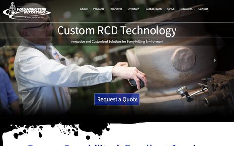 Screenshot of Home Page washingtonrotating.com - Rotating Control Devices - captured Feb. 13, 2016
