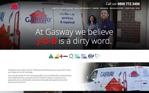 Screenshot of Jobs Page gasway.co.uk - Careers - Gasway Services Limited - captured Jan. 26, 2016