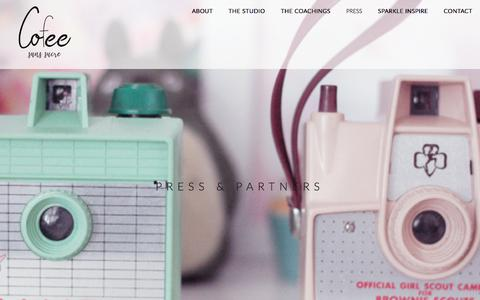 Screenshot of Press Page cofeesanssucre.com - PRESS - Cofee sans sucre - captured July 6, 2018