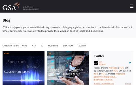 Screenshot of Blog gsacom.com - Blog - GSA - captured Oct. 14, 2017