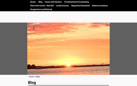 Screenshot of Blog gallants.us - Blog - captured Jan. 2, 2018