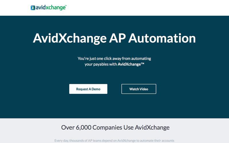 Request A Demo of AvidXchange