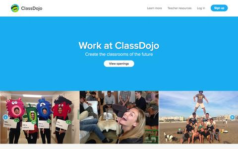Screenshot of Jobs Page classdojo.com - Join the team | ClassDojo - captured Nov. 12, 2015
