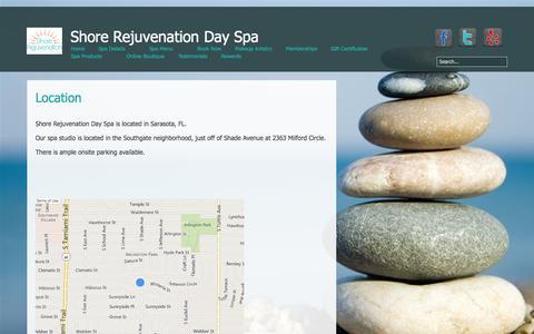 Screenshot of Maps & Directions Page shorerejuvenation.com - Directions - captured Nov. 3, 2014