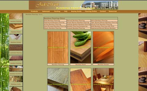 Screenshot of Home Page Products Page floorproducer.com - Bamboo Flooring,Laminate Flooring,Bamboo Panel,Bamboo Furniture - captured Oct. 6, 2014