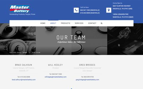 Screenshot of Team Page masterbattery.com - Our Team – Masterbattery.com - captured Aug. 10, 2016