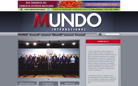 Screenshot of Home Page mundointernacional.com.mx - Revista Mundo Internacional - captured Oct. 25, 2018