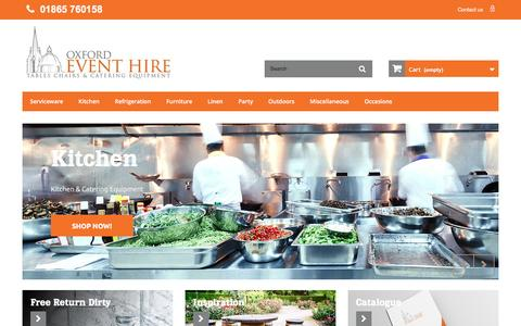 Screenshot of Home Page oxfordeventhire.co.uk - Oxford Event Hire - Oxford Event Hire Ltd - captured Aug. 16, 2016