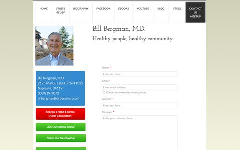 Screenshot of Privacy Page drbergman.com - Contact Us - captured Oct. 5, 2018