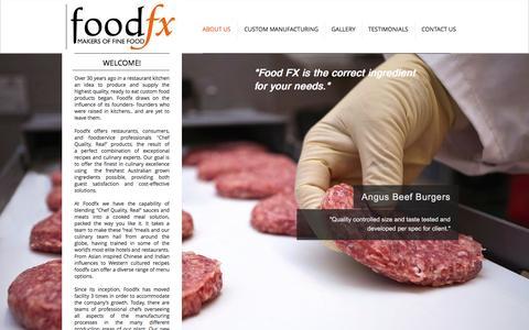 Screenshot of Home Page foodfx.com.au - Food FX Australia | Makers of Fine Foods - captured Feb. 10, 2016