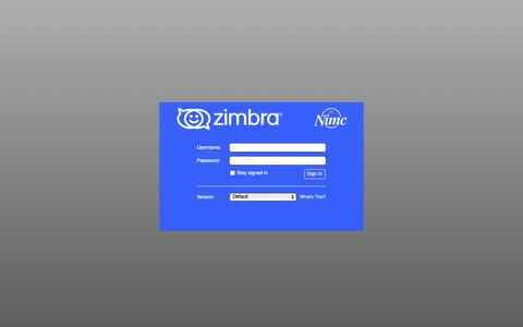 Screenshot of Home Page nimc.gov.ng - Zimbra Web Client Sign In - captured Dec. 21, 2018