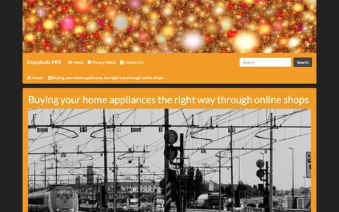 Screenshot of Home Page shopaholic-prr.com - Shopaholic PRR - captured Nov. 16, 2018