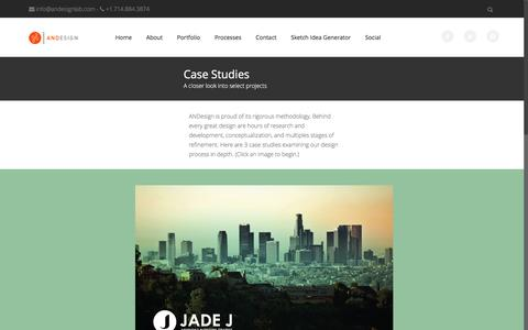 Screenshot of Case Studies Page andesignlab.com - Case Studies - ANDESIGN - captured May 28, 2017