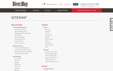 Screenshot of Site Map Page directbuy.com - Sitemap   DirectBuy.com - captured Oct. 11, 2016