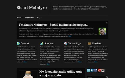 Screenshot of Home Page stuart-mcintyre.com - Stuart McIntyre - captured Jan. 26, 2015