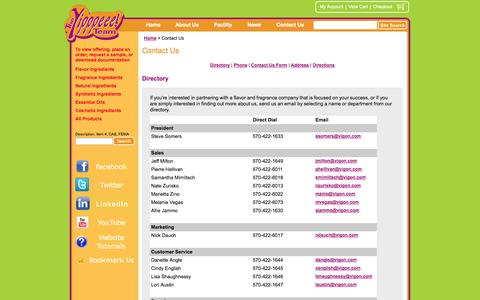 Screenshot of Contact Page vigon.com - Chemical Manufacturer - Contact Us | Vigon International, Inc. - captured Oct. 7, 2014