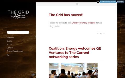 Screenshot of Blog energyfoundry.com - The Grid by Energy Foundry - captured Sept. 30, 2014
