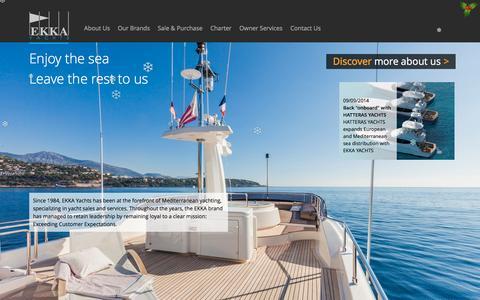 Screenshot of Home Page ekkayachts.com - EKKA Yachts - captured Dec. 6, 2015