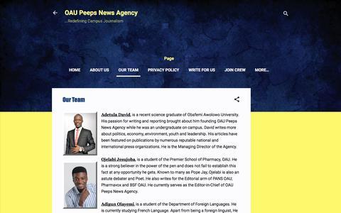 Screenshot of Team Page oaupeeps.com - Our Team - captured June 28, 2018