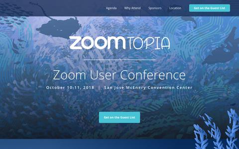 Zoomtopia | Join Zoom for our 2018 Zoom User Conference
