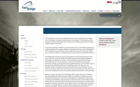 Screenshot of Privacy Page fast-bridge.net - Privacy   Fast Bridge - captured Oct. 5, 2014