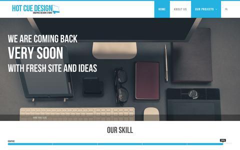 Screenshot of Home Page hotcuedesign.com - hotcuedesign.com - captured Oct. 3, 2014