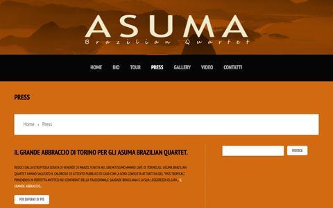 Screenshot of Press Page asuma.it - Asuma | Brazilian Quartet - captured June 1, 2016