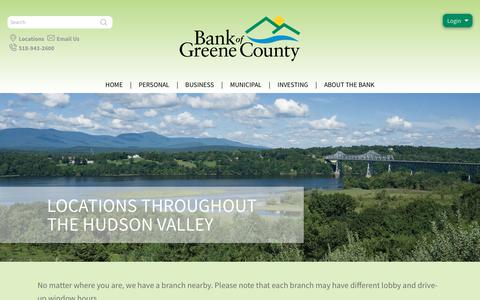 Screenshot of Locations Page thebankofgreenecounty.com - The Bank of Greene County Locations & Branches - captured June 16, 2017