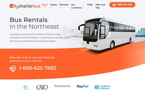 Screenshot of Home Page Privacy Page allybus.com - Charter Bus and Minibus Rentals | Ally Charter Bus - captured Oct. 28, 2018