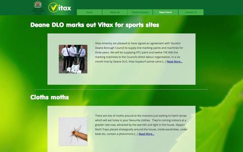 Screenshot of Press Page vitax.co.uk - News Room | Vitax - captured Oct. 7, 2014