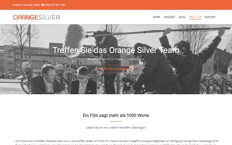 Screenshot of About Page orange-silver.de - Das Team von Orange Silver Webdesign - captured Jan. 22, 2017
