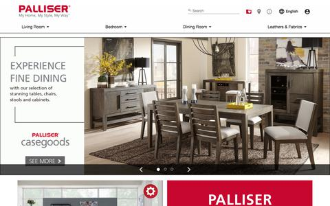 Screenshot of Home Page palliser.com - Home - Palliser Furniture - captured Jan. 23, 2018