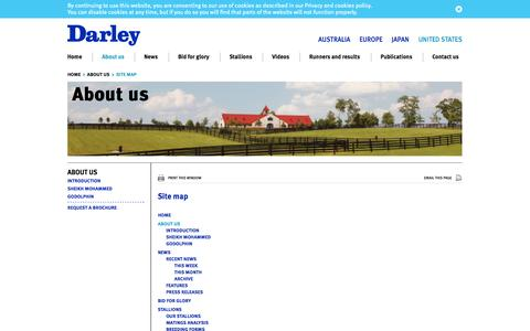 Screenshot of Site Map Page darleyamerica.com - Site map   United States - captured Oct. 5, 2014