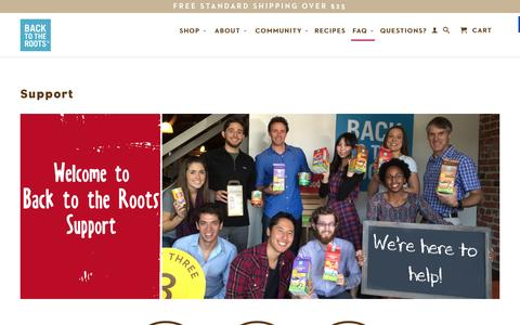 Screenshot of FAQ Page backtotheroots.com - Support - Back to the Roots - Official Site® - captured Feb. 9, 2016
