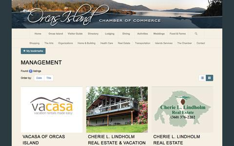 Screenshot of Team Page orcasislandchamber.com - Orcas Island Chamber of Commerce | Management  Orcas Island Chamber of Commerce - captured June 27, 2017