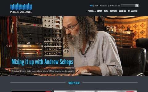 Screenshot of Home Page plugin-alliance.com - M/S Mastering Tools & Audio Plug-ins - Plugin Alliance - captured Feb. 11, 2016