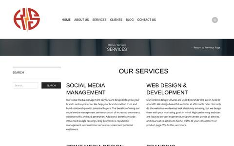 Screenshot of Services Page hotwiredesign.com - Services | Hotwire Design - captured Feb. 1, 2016