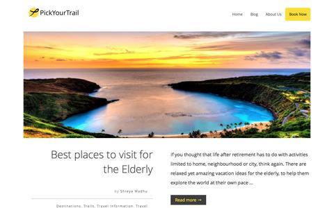 Screenshot of Blog pickyourtrail.com - PickYourTrail Blog - Stop Touring. Start Travelling. - captured Dec. 15, 2015