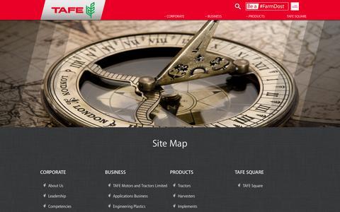 Screenshot of Site Map Page tafe.com - TAFE Sitemap - captured Feb. 19, 2016